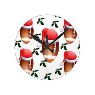 FOOTBALL CHRISTMAS CLOCKS