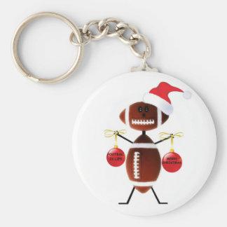 Football Christmas Keychain