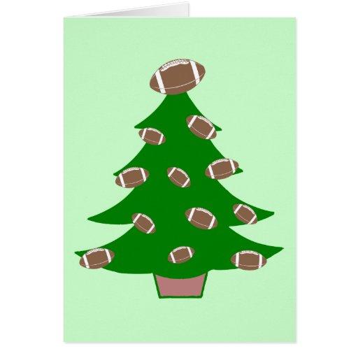 Football Christmas Tree Greeting Card
