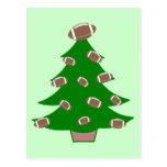 Football Christmas Tree Postcard