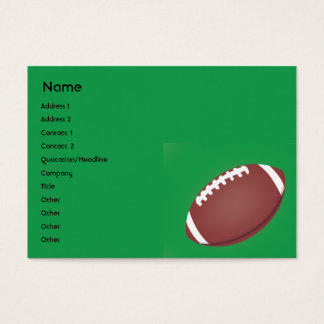 Football - Chubby Business Card