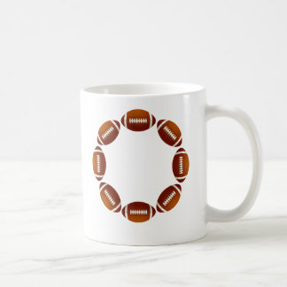 FOOTBALL CIRCLE DESIGN CLASSIC WHITE COFFEE MUG