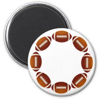 FOOTBALL CIRCLE DESIGN FRIDGE MAGNET