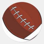football classic round sticker