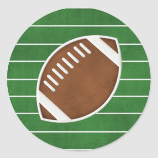 Football Classic Round Sticker
