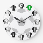 Football Clock - with Black and White Shirts