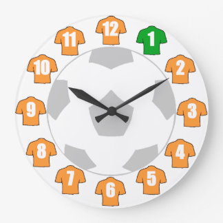 Football Clock - with Old Gold Shirts