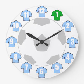Football Clock - with Sky Blue Shirts