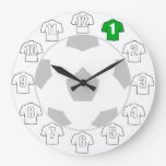 Football Clock - with White Shirts