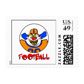 Football Clown Postage