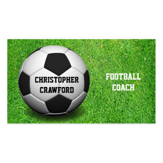 Football Coach Ball Business Card Standard Business Cards
