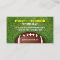 Business cards for sports fitness and coaching football coach business card at zazzle colourmoves