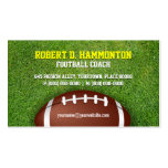 Football Coach Double-Sided Standard Business Cards (Pack Of 100)