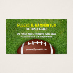 Football Coach Business Card at Zazzle