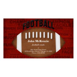 Football Coach Business Card Template
