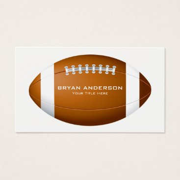 Professional Business Football Coach Business Card