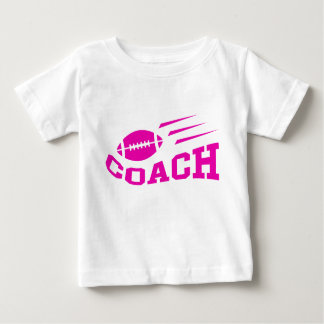 Football coach design - pink print girls or womens baby T-Shirt