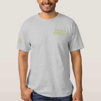 FOOTBALL COACH EMBROIDERED T-Shirt