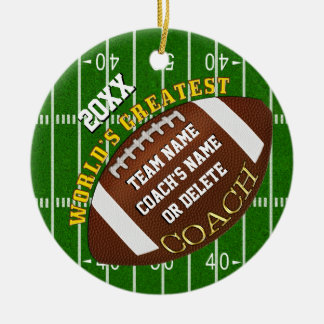 Football Coach Gifts, Custom Football Ornaments