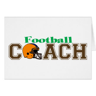Football Coach (Helmet) Greeting Card