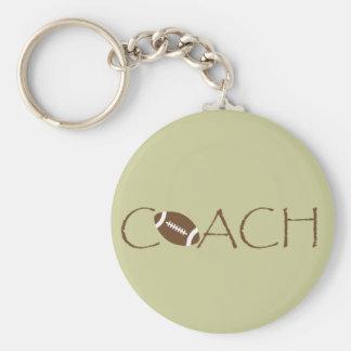 Football coach keychain