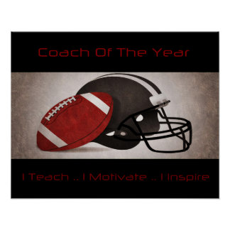Football Coach Of The Year (Style #1) Poster