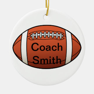 Football Coach Christmas Ornaments