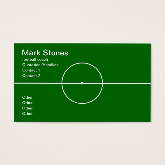 Football coach professional business card