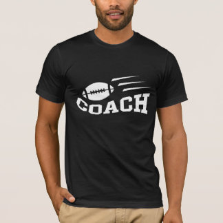Football coach t-shirt with bouncing ball, white