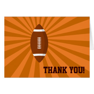 Football Coach Thank You Card