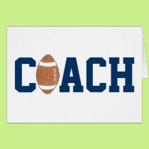 Football coach thank you card