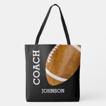 Football Coach Vintage Retro Football Personalized Tote Bag