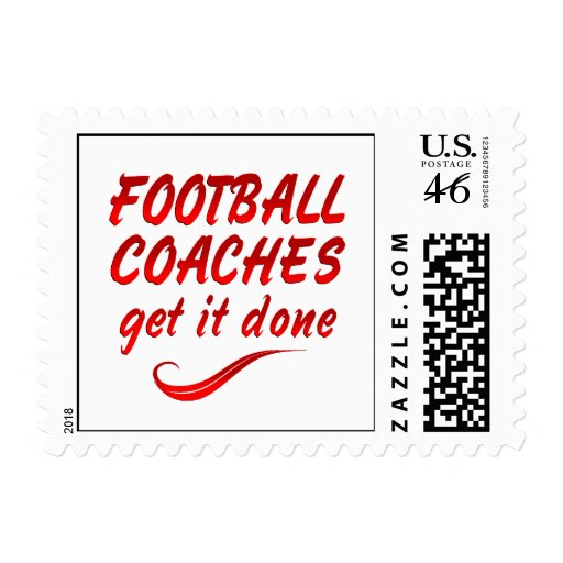 Football Coaches Get it Done Stamp
