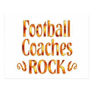 Football Coaches Rock Postcard