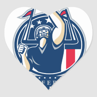 Football Conference Champions New England Retro Heart Sticker