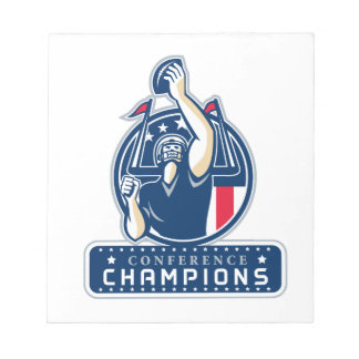 Football Conference Champions New England Retro Notepad