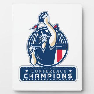 Football Conference Champions New England Retro Plaque