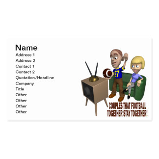 Football Couple Double-Sided Standard Business Cards (Pack Of 100)