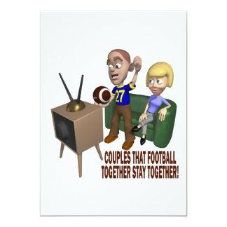Football Couple Card