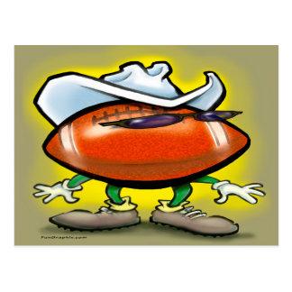 Football Cowboy Postcard
