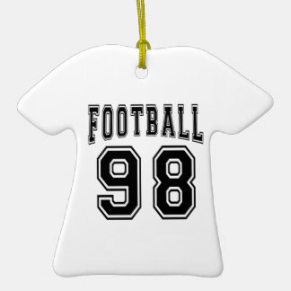 Football Crazy 98 Birthday Designs Double-Sided T-Shirt Ceramic Christmas Ornament