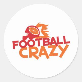 football crazy classic round sticker
