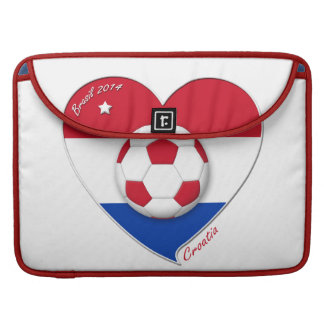 "Football ""CROATIA"" Soccer Team Fútbol Croacia 2014 Fundas Para Macbooks"