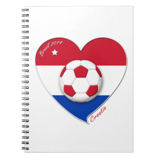 "Football ""CROATIA"" Soccer Team Fútbol Croacia 2014 Libreta"