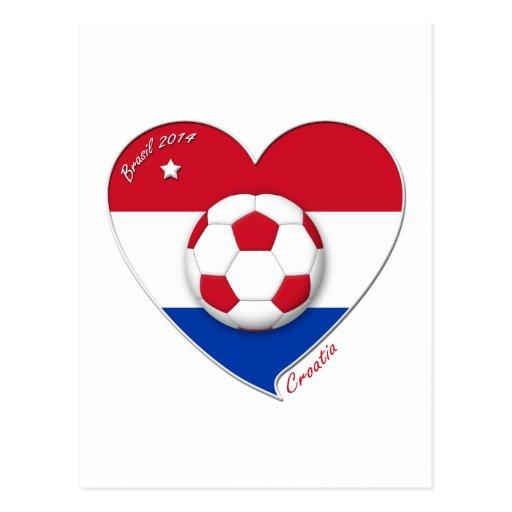 "Football ""CROATIA"" Soccer Team Fútbol Croacia 2014 Postales"