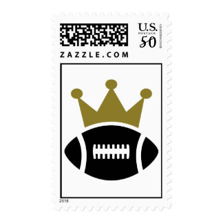 Football crown champion postage
