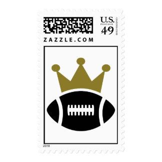 Football crown champion stamp