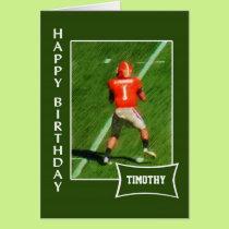 Football - Custom Name Birthday Card