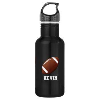 Football Custom 18oz Water Bottle