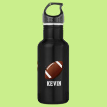 Football Custom Stainless Steel Water Bottle